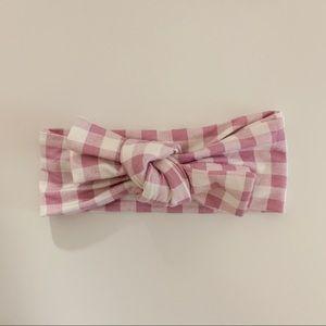 Lavender gingham SpearmintLOVE knot bow